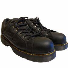 Dr. Martens Mens 14 M Black Leather Industrial Steel Toe SafetyWork Low Boots