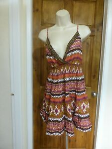 Pretty purple and orange beaded detail top from George size 18
