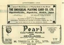 1953 Universal Playing Card Company Osaka M Yokota Cultured Pearl Necklaces Kobe