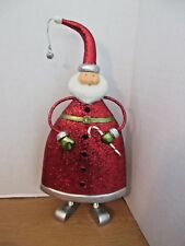 "Very Heavy Table Top 18"" Glittery Santa Claus Decoration Figure"