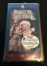 Miracle On 34th Street 50th Anniversary VHS New Factory Sealed