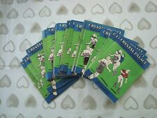 Full Set of Crystal Palace home programmes 1961-62 - 24 programmes