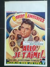 affiche cinéma originale allo je t'aime 1952 Robert Lamoureux téléphone