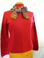 Womens Cashmere Sweater NWOT GRIFFEN  Large Red with FREE Scarf