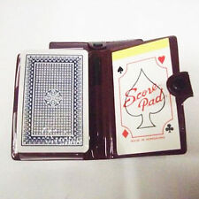 Playing Cards Card Game Score Pad & Pencil In Popper Travel Case Holder Wallet