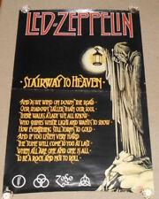 Led Zeppelin Stairway to Heaven Huge Poster Original 2002 40x60 Scorpio
