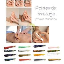 Bâton ou stylo de massage pierre minérale au choix réflexologie plantaire zen