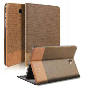 """Folio Flip Stand Leather Case For Samsung Galaxy Tab E 9.6""""/Tab E 8.0"""" Tablet"""