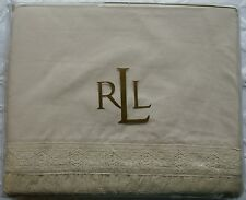 NEW Ralph Lauren Winter Garden Lace King Flat Sheet