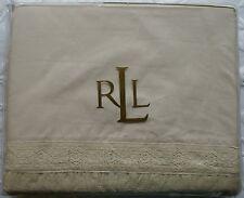 NEW Ralph Lauren Winter Garden Lace King Flat Sheet