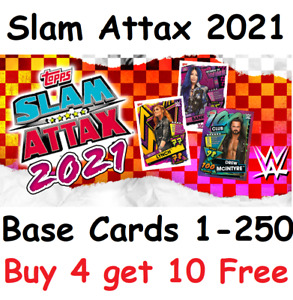 WWE Slam Attax 2021 Complete Your Collection Pick the Cards you need 1-250