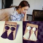 Vintage Thread Tassel Fringe Earrings Womens Drop Dangle Earrings Jewelry
