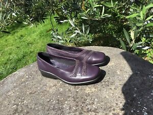 New Hotter Comfort Concept Purple Leather Shoes Uk 4