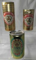 Ballantine Lager Beer XXX Ale 12 oz 16 oz Empty Can Pull Tab Ring Lot of 3