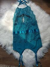 Ann Summers Darrah Cami Suspender Body Teal S 8-10 Sexy ladies lingerie New Tags