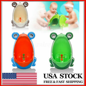 Baby Kid Children Potty Urinal Toilet Training Boy Bathroom Frog Pee