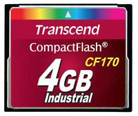 TRANSCEND 4GB TS4GCF170 CF170 INDUSTRIAL COMPACTFLASH MEMORY CARD