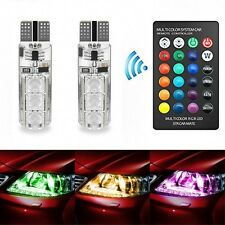 2xLED RGB T10 5050-6SMD Remote Control Color LED bulb Parking light Car lamp
