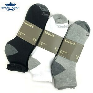 Timberland Men's Basic Quarter Crew Cotton Socks (3-PACK)