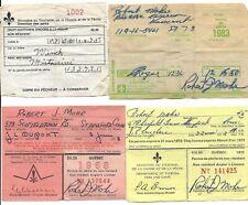 (7) Quebec Fishing Angler License, Permis de Peche, 1968-1983