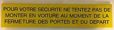 Authentic Old Enameled Metal French Paris Metro Train Station Safety Sign #4
