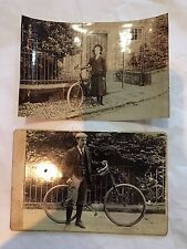 Antique Vintage Photographic Images CDV Bicycles Cabinet Photographs Cyclists