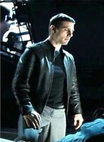 Tom Cruise Minority Report Black Leather Jacket