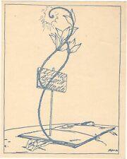 WILLI GEIGER: Exlibris für Ascan W. Lutteroth, Paragraphenzeichen als Blume