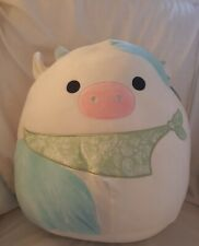 """Belana the Blue Cow Squishmallow 16"""" 2021 Easter Release New With Tag. Rare!"""