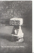 Scotland Postcard - The Old Celtic Font - Dryburgh Abbey - Ref ZZ5277