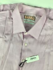 NWT Thomas Pink Slim Fit Twill French Cuff Dress Shirt sz 18.5 37 Pink