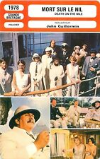 FICHE CINEMA GB MORT SUR LE NIL / DEATH ON THE NILE Réalisateur John Guillermin