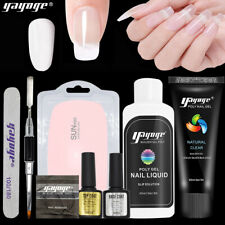 UK STOCK Hard Poly Gel Set Tips Nail Extension UV LED Lamp Nail Art Kit DIY