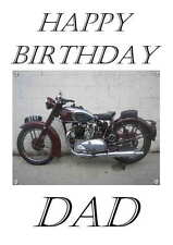 1947 Triumph Personalised Hand Made Printed Card, any name, age, relation