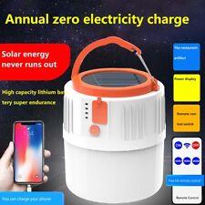 USB Rechargeable Solar Power LED Camping Light Portable Lantern Emergency Lamp