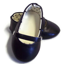 Black Flats Shoes made for 18 inch American Girl Doll Clothes
