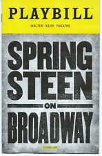 SPRINGSTEEN ON BROADWAY Playbill OPENING NIGHT Bruce Springsteen New York City