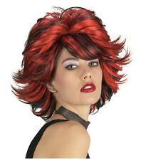 Synthetic Role play Reenactment or Crossdresser Costume Short Red/Black Wig