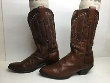 VTG WOMENS DAN POST COWBOY BROWN BOOTS SIZE 10 M