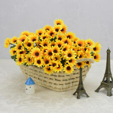 15 Heads Fake Sunflower Artificial Silk Flower Bouquet Home Wedding Fresh Decor
