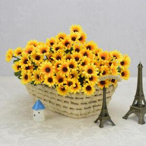 15 Heads Fake Sunflower Artificial Silk Flower Bouquet Home Wedding Fresh Decor