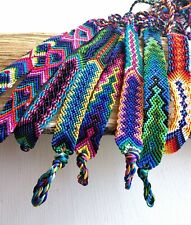 Hand woven Silk Friendship Bracelets, Set of 8, Soft, Flat, Wristband, Boho Chic