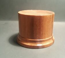 2. 3/8x 2. 1/8 Hand Made Wooden base for figures/miniatures-Solid mora wood