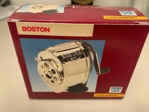 VINTAGE BOSTON KS PENCIL SHARPENER 1031 HUNT MFG DESK OR WALL MOUNT NOS