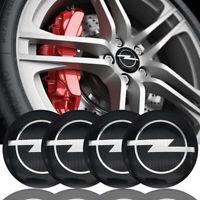 4x 60mm Opel noir argent jantes couvercle moyeux capuchon roue enjoliveur caché