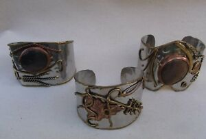 Reduced  Handmade Cuff Bracelets  Metal Ornate Ethical Jewellery New FREE POST
