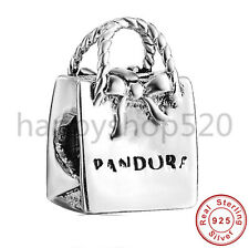 Handbag silver charm bead For European charms bracelets bangles Necklaces