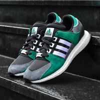 ADIDAS ORIGINAL EQT SUPPORT 93-16 BOOST MENS GREEN TRAINERS SIZE UK 10.5 S79923