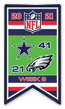 2021 Semaine 3 Bannière Broche NFL Dallas Cowboys Vs.Philadelphie Super Bol