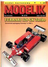 Card Model Kit – Ferrari 126 CK Turbo